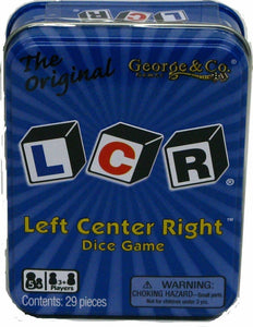 LCR, left center right dice game, the original - minor tin damage - Discount - Better Buy Now