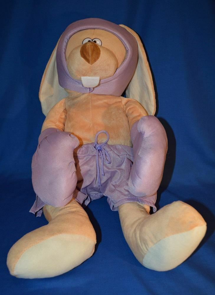 GIANT BOXING BUNNY PLUSH TOY - PURPLE 60cm - Better Buy Now