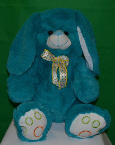 Peter Bunny Rabbit Teal 42cm Plush - Australia only