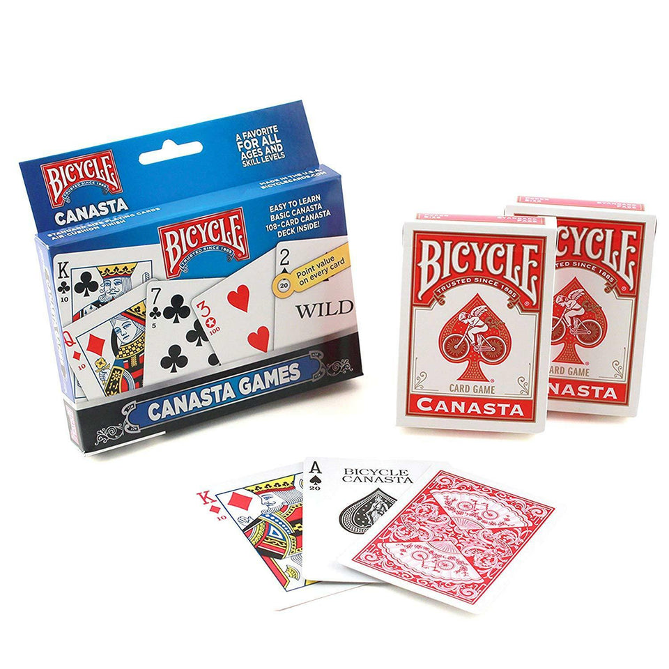 Canasta 2 Deck Set Bicycle Playing Cards Poker Size Card Game - Australia only - Better Buy Now
