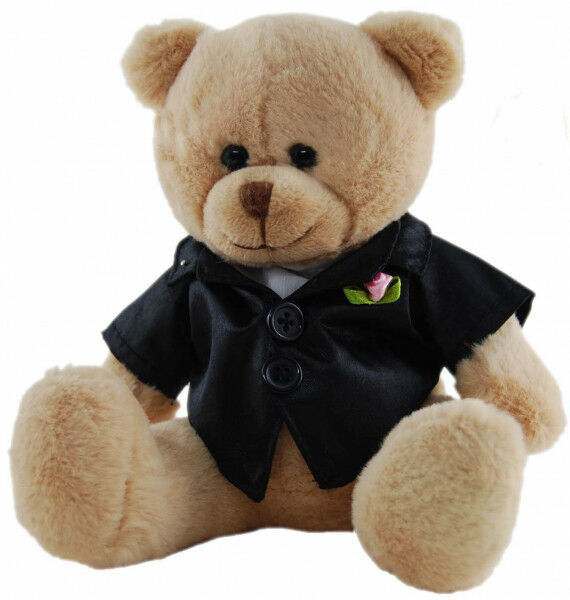BEAR GROOM 14cm - Cute Bear with Black Jacket - Australia only - Better Buy Now