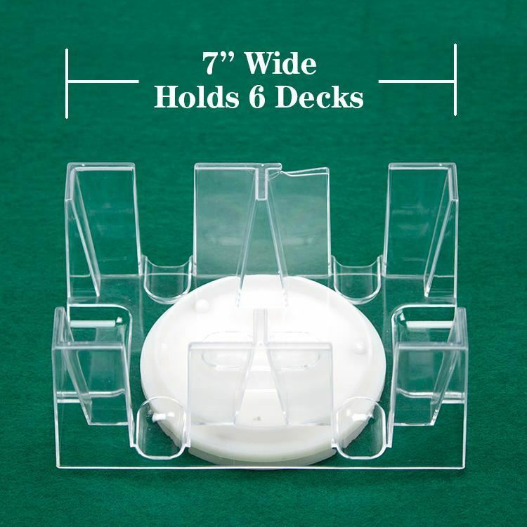 6-Deck Rotating Card Holder - Revolving Playing Card Tray - Australia only - Better Buy Now