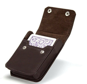 Single Deck Leather Case - FREE Deck of Cards included - Australia only