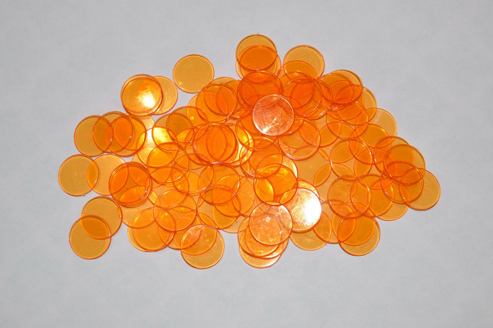200 Orange Bingo Chips - Australia only - Better Buy Now