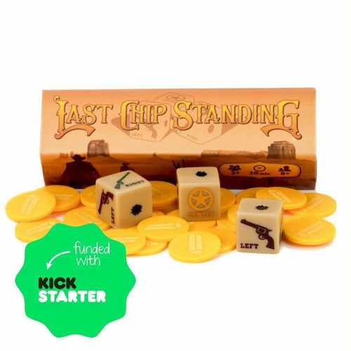 Last Chip Standing - Fast, Light & Fun Pocket Family Dice Game - Australia only - Better Buy Now