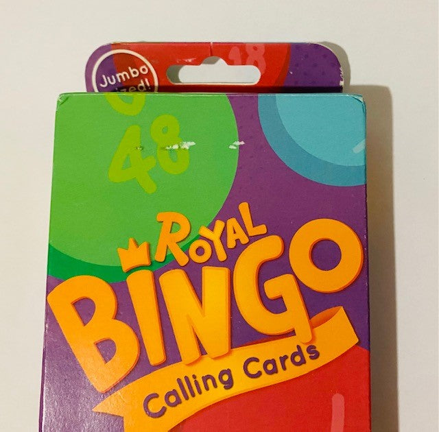 Jumbo Bingo Calling Cards - Australia only DAMAGED PACKAGING