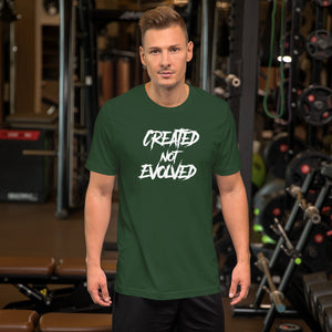 Short-Sleeve Unisex T-Shirt - Created Not Evolved - Better Buy Now