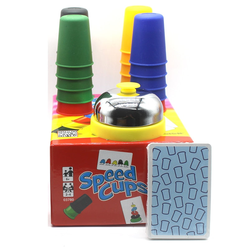 Speed Cups, Toys Xmas Gift Portable Speed Cups Playing Cards Game Family Kids Board Games - Better Buy Now