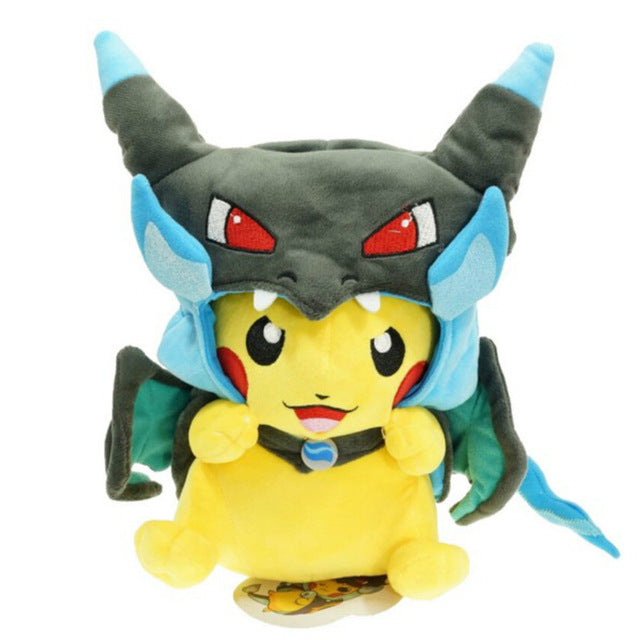 Cartoon Gyarados Cosplay Pikachu Peluche Mega Charizard Cotton Stuffed Animals Dolls Children Plush Toys Kids Christmas Gifts - Better Buy Now