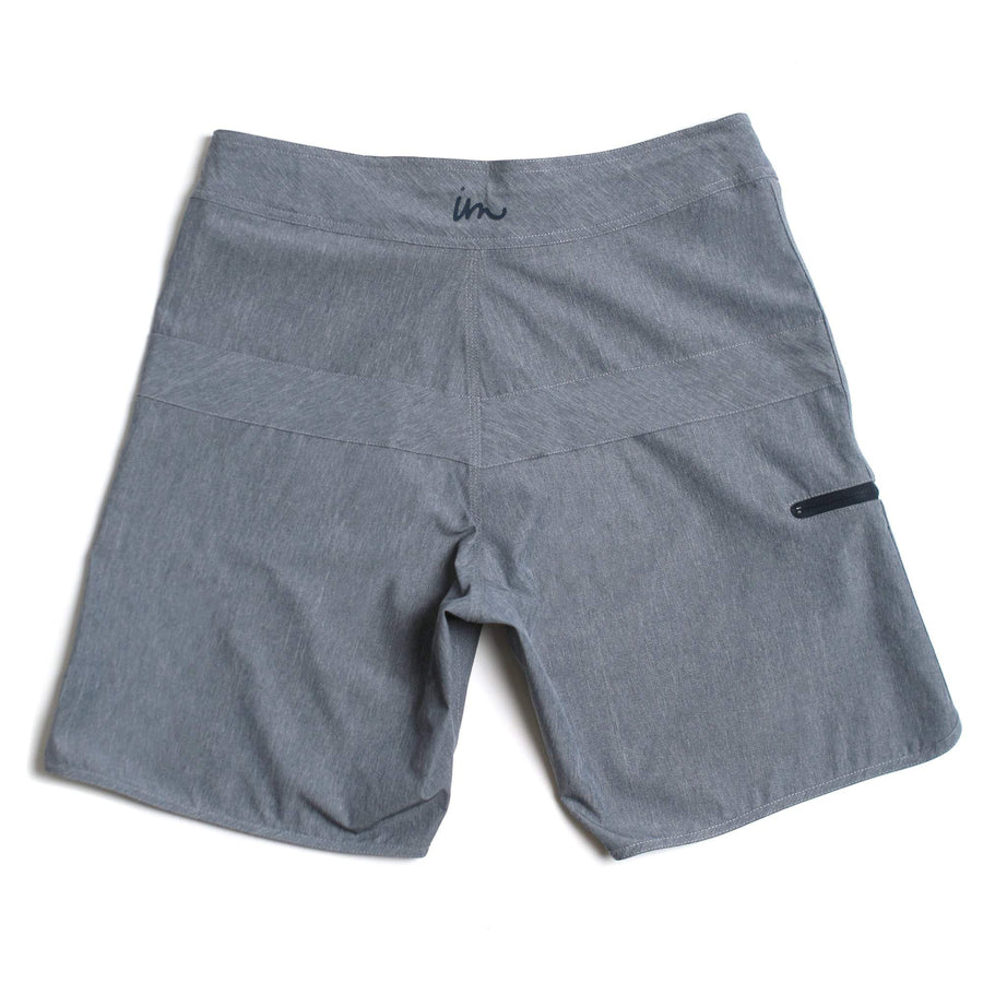 Imperial Motion Hayworth Minimalist Boardshort - Grey Melange