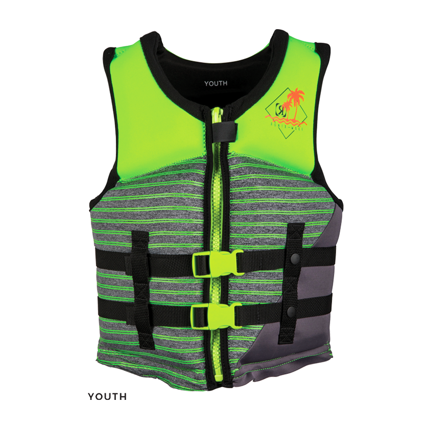 2021 Ronix Vision Boy's - CGA Life Vest - Lime/Heather