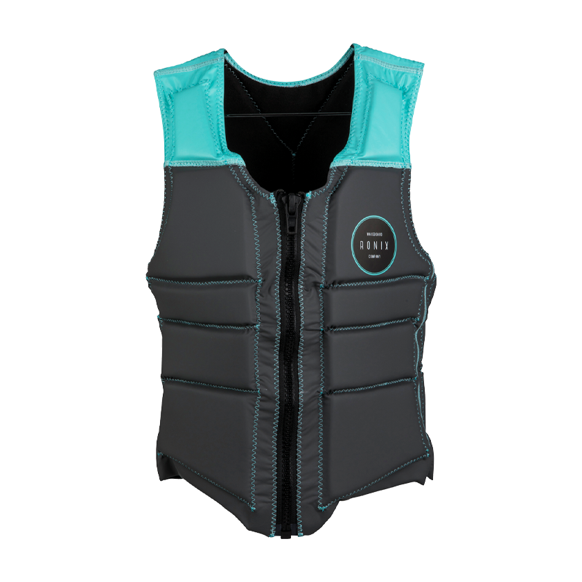 2020 Ronix Signature Women's - V-Neck Impact Vest - Grey/Mint