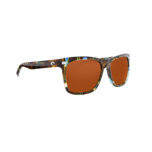 Costa Aransas - Copper Polarized Glass 580 Lens - Shiny Ocean Tortoise Frame