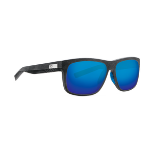 Costa Baffin - Blue Mirror Polarized Glass 580 Lens - Net Gray w/Blue Rubber Frame
