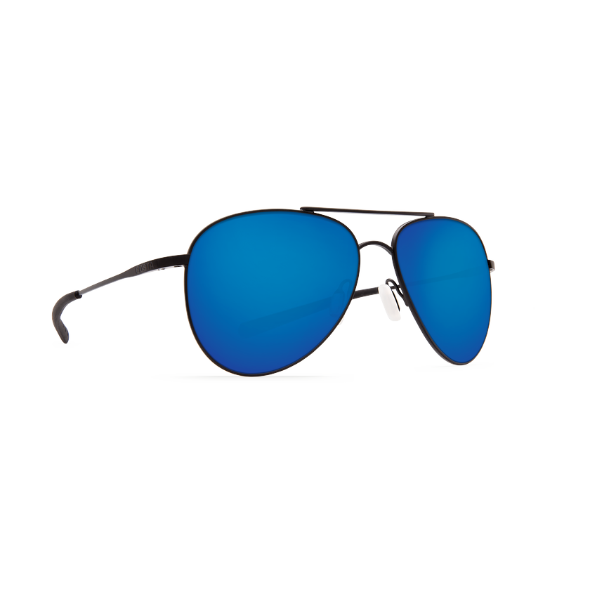 Costa Cook - Blue Mirror Polarized Polycarbonate 580 Lens - Satin Black Frame