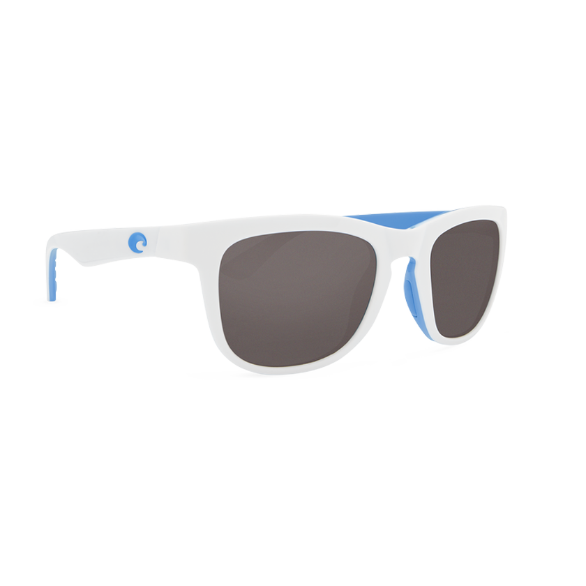 Costa Copra - Gray Polarized Polycarbonate 580 Lens - Shiny White/Light Blue/Costa Blue Frame