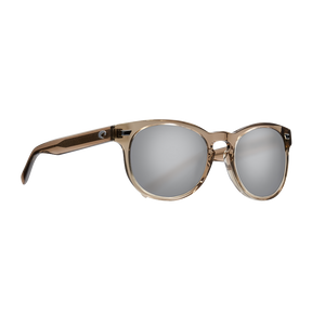 Costa Del Mar Polarized -  Silver Mirror Polarized Glass 580 Lens - Shiny Taupe Crystal Frame