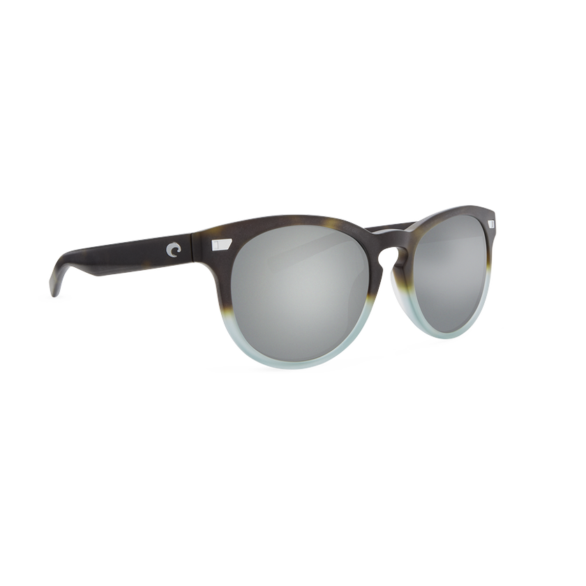 Costa Del Mar Polarized - Gray Silver Mirror Polarized Glass 580 Lens - Matte Tide Pool Frame