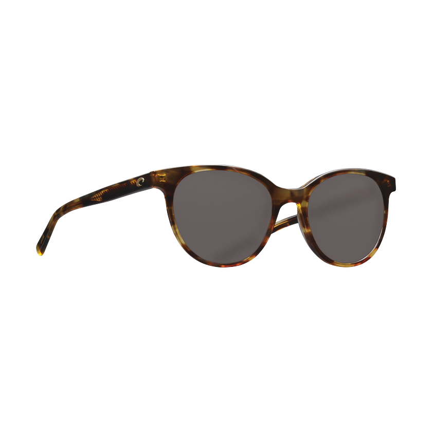 Costa Isla - Gray Polarized Glass 580 Lens - Shiny Tortoise Frame