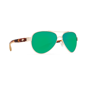 Costa Loreto - Green Mirror Polarized Polycarbonate 580 Lens - Rose Gold w/Tortoise Temples Frame