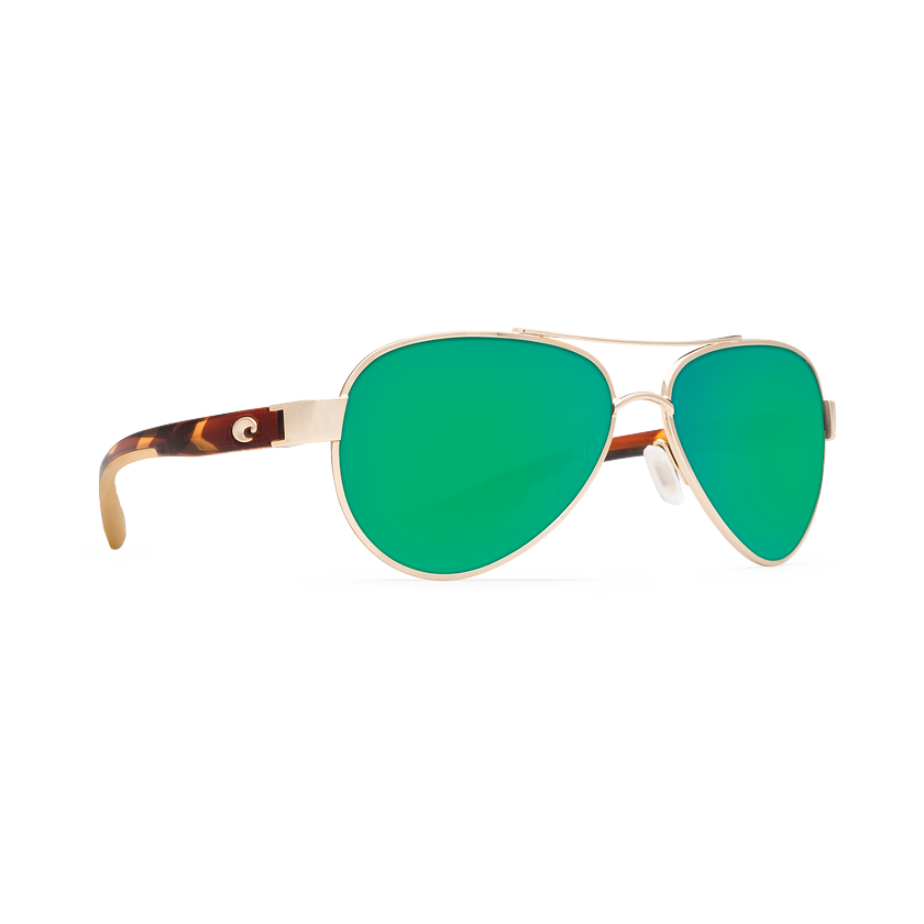 Costa Loreto - Blue Mirror Polarized Polycarbonate 580 Lens - Palladium w/White Temples Frame
