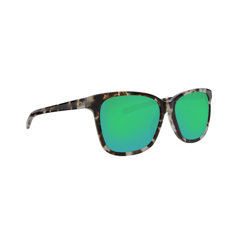 Costa May - Green Mirror Polarized Glass 580 Lens - Shiny Tiger Cowrie Frame