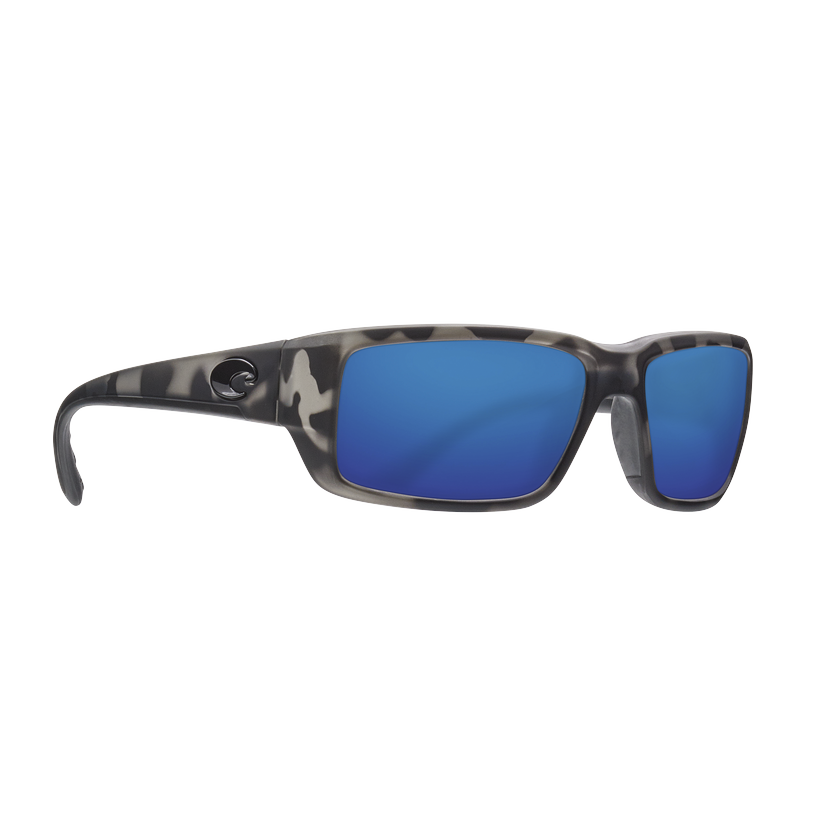 Costa OCEARCH® Fantail - Blue Mirror Polarized Glass 580 Lens - Ocearch Matte Tiger Shark Frame