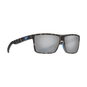 Costa OCEARCH® Rinconcito - Gray Silver Mirror Polarized Glass 580 Lens - Ocearch Matte Tiger Shark Frame