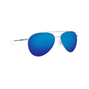 Costa Piper - Blue Mirror Polarized Polycarbonate 580 Lens - Velvet Silver Frame