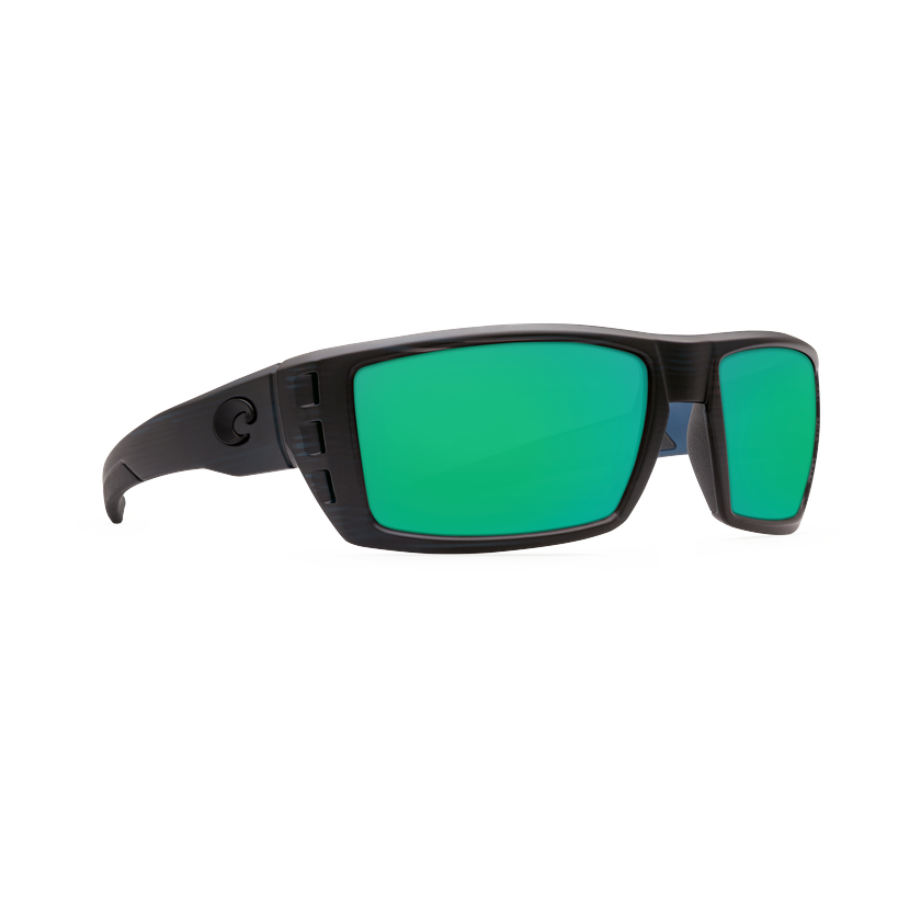 Costa Rafael - Green Mirror Polarized Glass 580 Lens - Matte Black Teak Frame