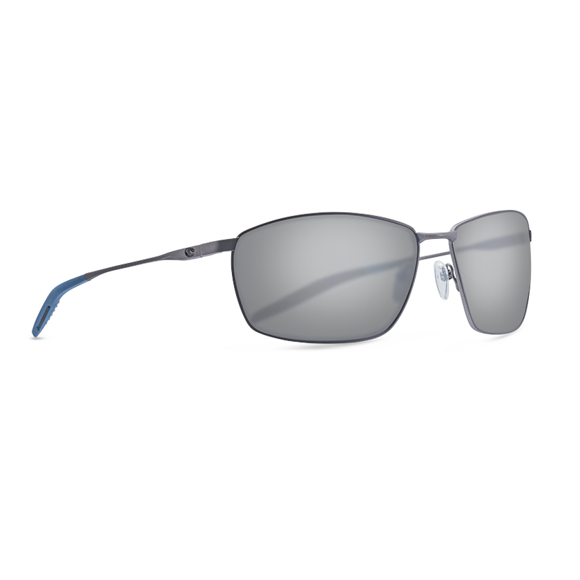Costa Turret - Gray Polarized Polycarbonate 580 Lens - Matte Dark Gunmetal plus Deep Blue/Black
