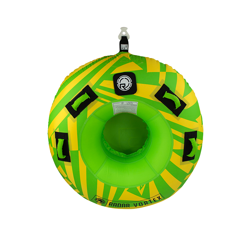 Radar Vortex - Yellow/Green - 1 Person Tube w/ Rope