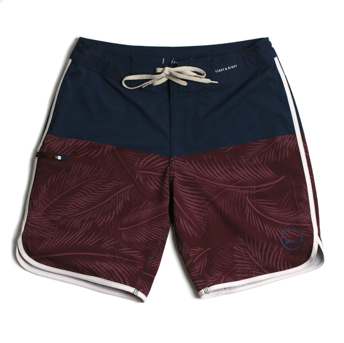 Imperial Motion Vislon Boardshort - Navy/Burgundy