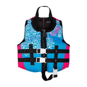 Ronix August Girl's Child - CGA Life Vest - Sky Blue/Pink/White