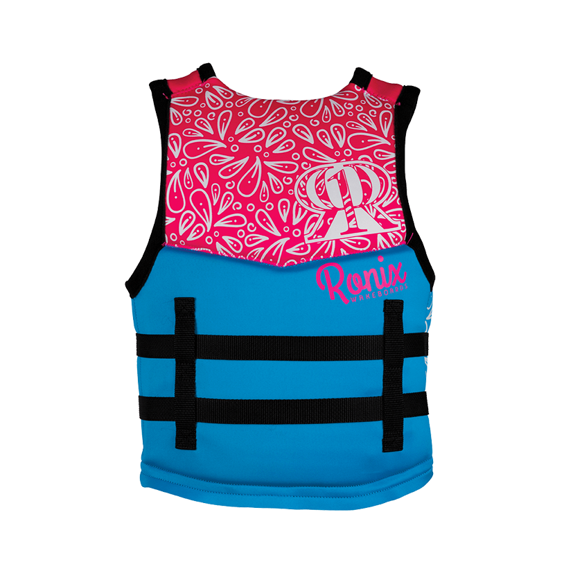 Ronix August Girl's Youth - CGA Life Vest - Sky Blue/Pink/Purple