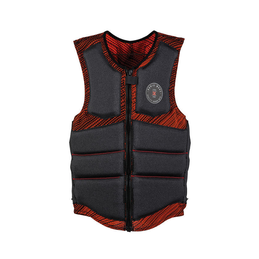 Ronix Men's Impact Jacket - One Custom Fit - Grey Heather/Red