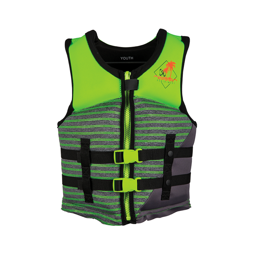 Ronix Vision Boy's Youth - CGA Life Vest - Lime/Heather