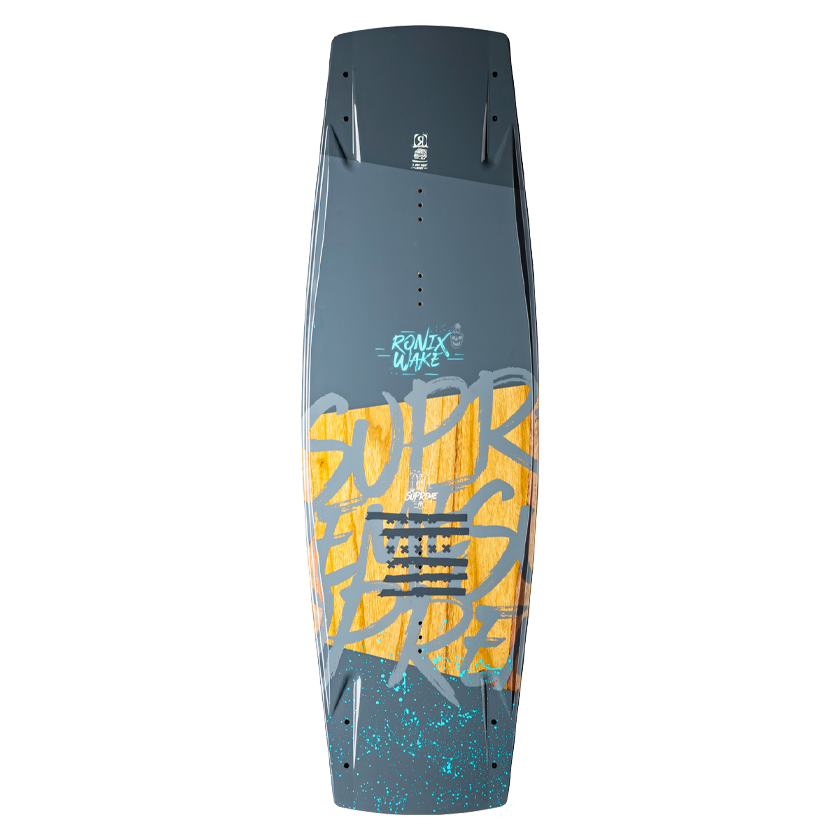 2020 Ronix Supreme ATR Sandwitch - Splattered Grey & Cyan Blue