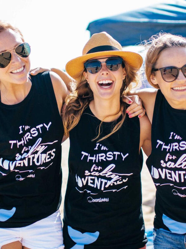 Thirsty for Adventures – Tank Tee – Unisex