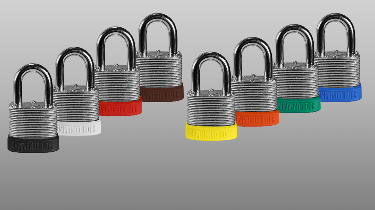 Color padlocks, lockout, custom locks, commando lock