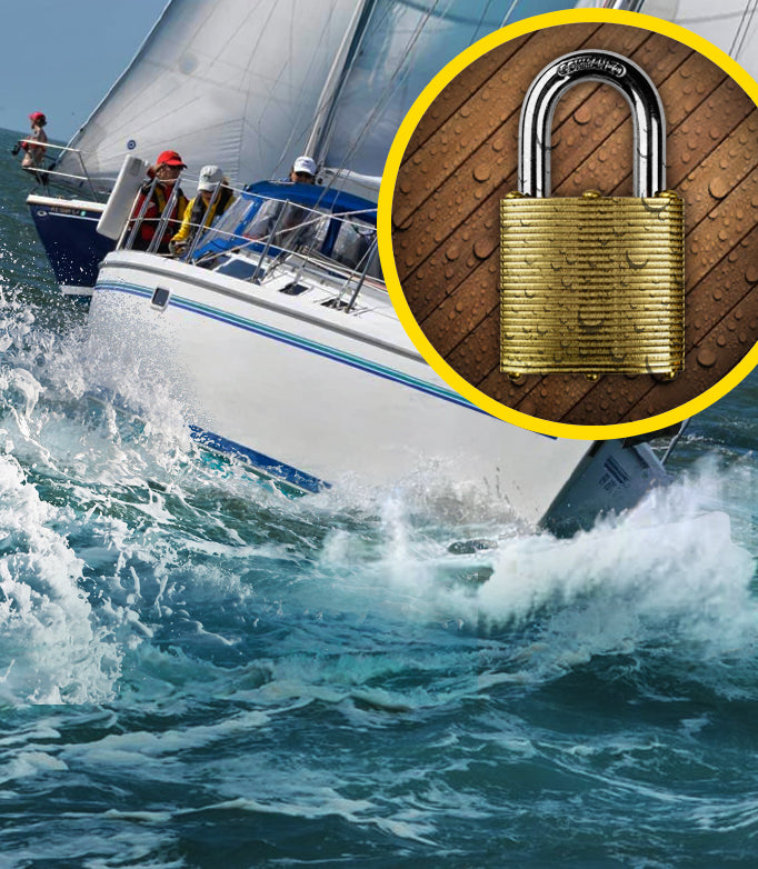 Dock Boat Lock, Marine Brass lock, No Rust  Padlock, The best lock for boats