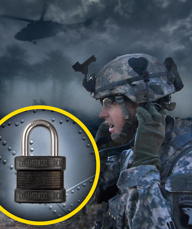 Military Grade Padlock, DLA Lock, Weather Resistant , Pelican Case Lock