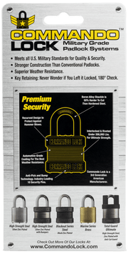 Commando Lock_Steel Heavy Duty Anti-Pick Padlock Package