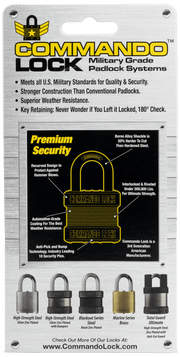 Commando Lock | Heavy Duty Padlock | Military-Grade Weatherproof Commando Lock