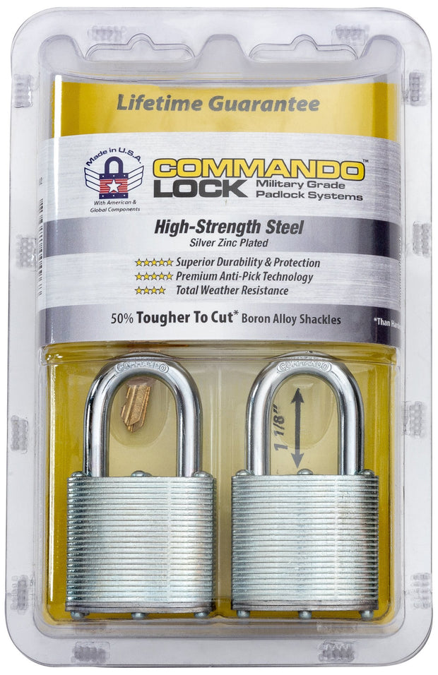 Commando Lock_Steel Heavy Duty Anti-Pick Padlock 2-Pack
