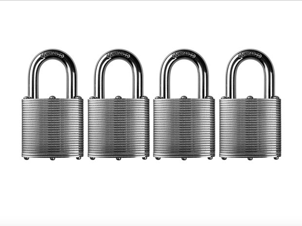 Commando Lock | Heavy Duty Padlock | Military-Grade Weatherproof Commando Lock 4 PACK KEYED ALIKE