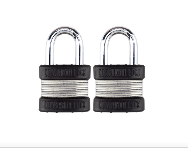 Commando Lock Heavy Duty Padlock | 2 Bumper High Security | Military-Grade Commando Lock 2 PACK KEYED ALIKE