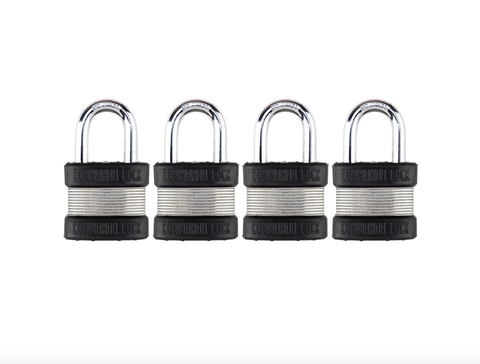 Commando Lock Heavy Duty Padlock | 2 Bumper High Security | Military-Grade Commando Lock 4 PACK KEYED ALIKE