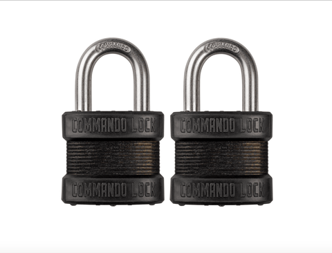 Blackout Laminated Steel Padlock | Military-Grade | Pelican Case  Locks Commando Lock 2 PACK KEYED ALIKE