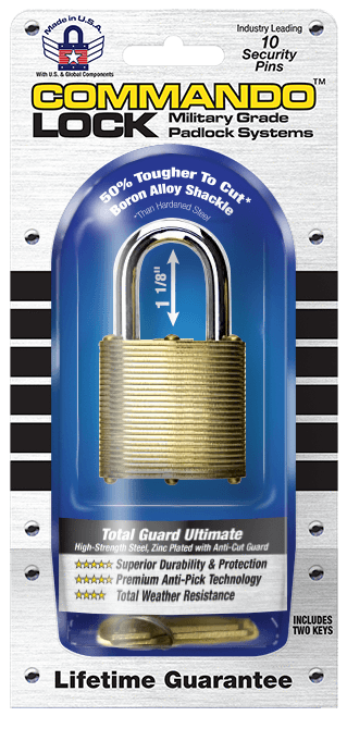 Commando Lock | Marine Series: Premium Brass Padlock | Military-Grade Commando Lock